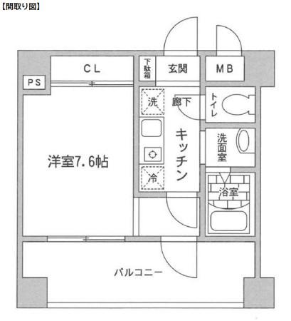 レジディア新宿イースト804号室