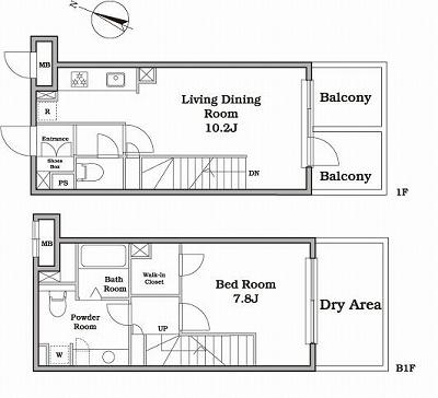 レジディア西新宿Ⅱ106号室