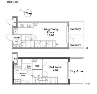 レジディア西新宿Ⅱ107号室
