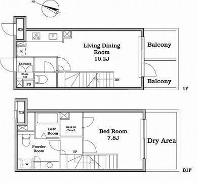 レジディア西新宿Ⅱ108号室