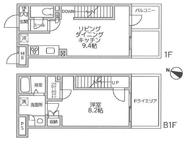 レジディア西新宿Ⅱ116号室