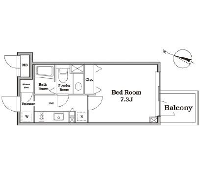レジディア西新宿Ⅱ303号室