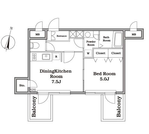 レジディア西新宿Ⅱ402号室