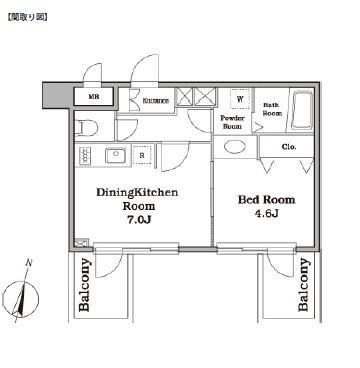 レジディア西新宿Ⅱ408号室