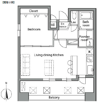 レジディア神楽坂1204号室