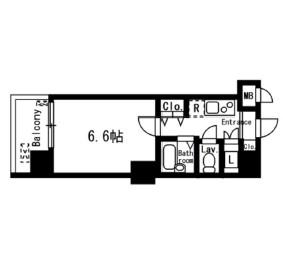 レジディア神楽坂303号室