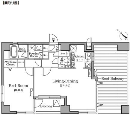 レジディア広尾南1001号室