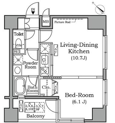 レジディア広尾南701号室