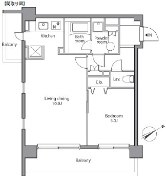 レジディア赤坂205号室