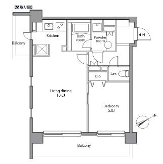 レジディア赤坂304号室