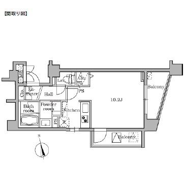 レジディア大井町Ⅱ505号室