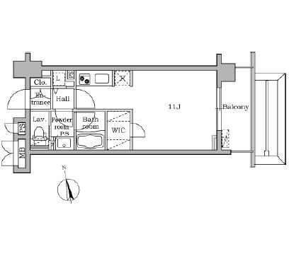 レジディア大井町Ⅱ703号室