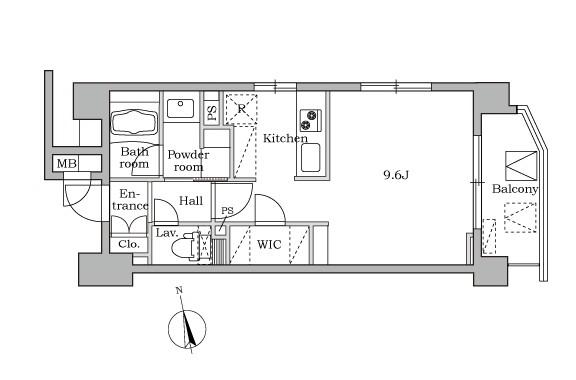 レジディア大井町Ⅱ802号室