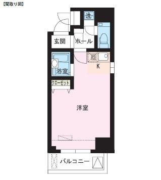 レジディア大井町203号室