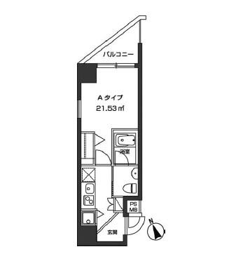 レジディア虎ノ門1205号室