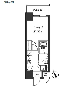 レジディア虎ノ門1402号室