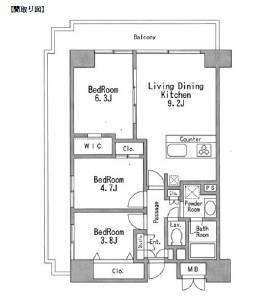 レジディア芝浦611号室