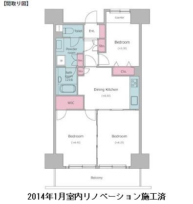 レジディア芝浦807号室
