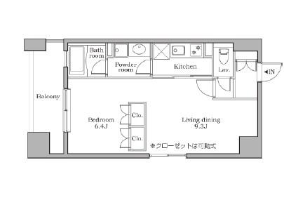 レジディア芝大門Ⅱ1004号室