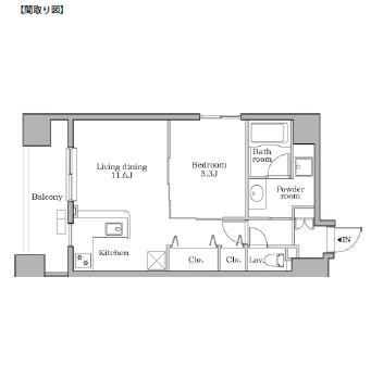 レジディア芝大門Ⅱ601号室