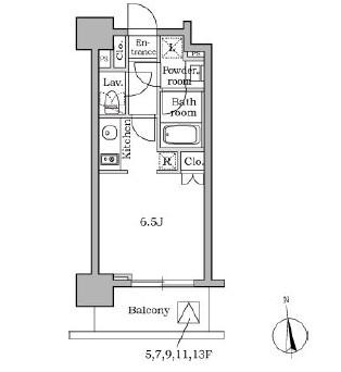 レジディア三軒茶屋205号室