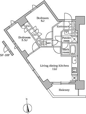 レジディア三軒茶屋502号室