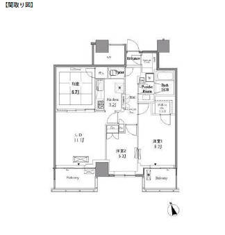 レジディアタワー目黒不動前1310号室