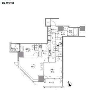レジディアタワー目黒不動前1811号室