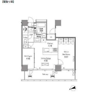 レジディアタワー目黒不動前2111号室