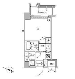 レジディア広尾Ⅱ1005号室