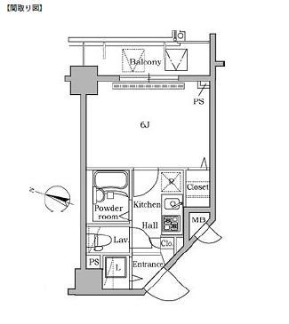 レジディア広尾Ⅱ1103号室