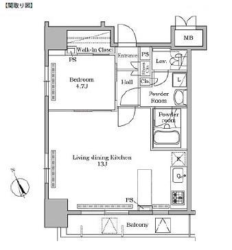 レジディア広尾Ⅱ1201号室