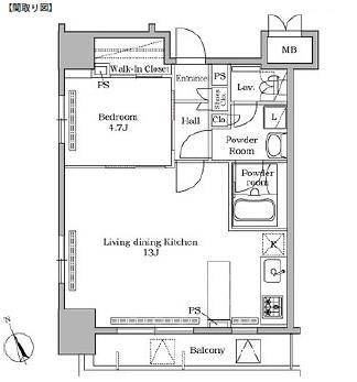レジディア広尾Ⅱ601号室