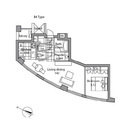 レジディアタワー乃木坂1002号室