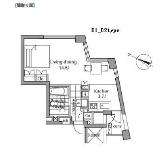レジディアタワー乃木坂1004号室