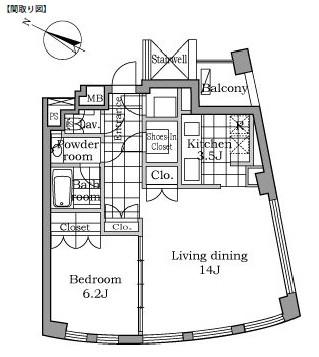 レジディアタワー乃木坂1303号室