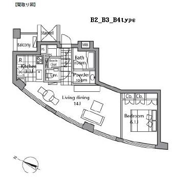 レジディアタワー乃木坂1502号室