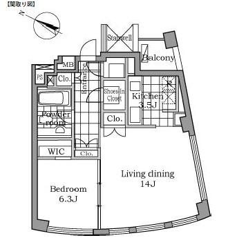 レジディアタワー乃木坂1603号室
