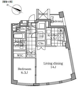 レジディアタワー乃木坂1703号室