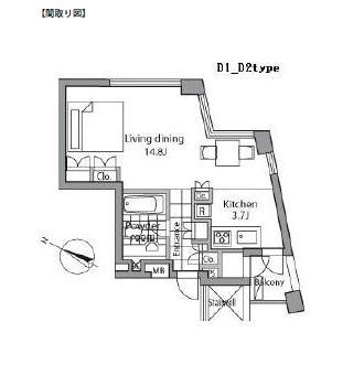 レジディアタワー乃木坂904号室