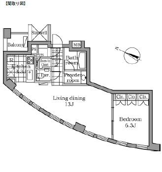 レジディアタワー乃木坂302号室