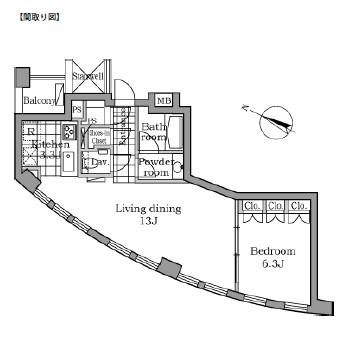レジディアタワー乃木坂502号室