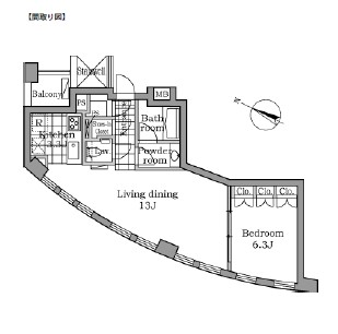 レジディアタワー乃木坂602号室