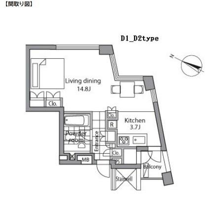 レジディアタワー乃木坂704号室