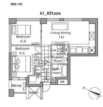 レジディアタワー乃木坂801号室