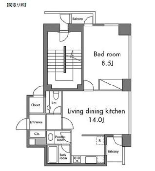 レジディアタワー麻布十番1501号室