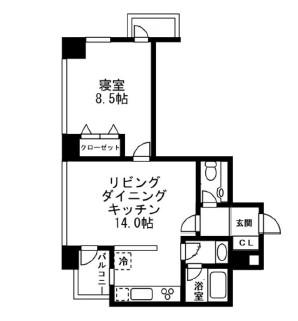 レジディアタワー麻布十番2104号室
