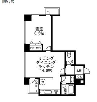 レジディアタワー麻布十番2304号室