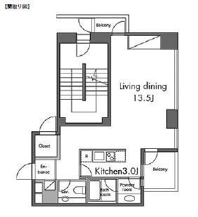 レジディアタワー麻布十番301号室
