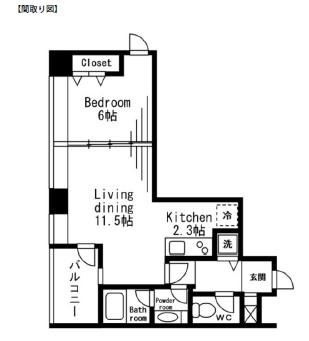 レジディアタワー麻布十番401号室
